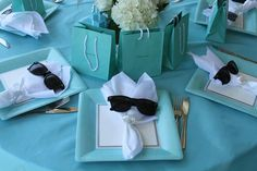 New Ideas Tiffany Blue Bridal Shower Ideas Simple Tiffany Blue Party, Tiffany Birthday Party, Tiffany Theme, Tiffany & Co., Tiffany Wedding, My Bridal Shower, Bridal Shower Rustic, Bridal Shower Favors, Bride Shower