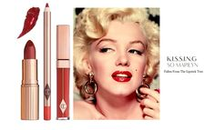 The Bombshell Lip Kit by Charlotte Tilbury contains Lip Cheat: Kiss n Tell, K.I.S.S.I.N.G: So Marilyn and Lip Lustre: Red Vixen.