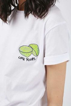 Statement tees = perfect tops #lime yours^_^