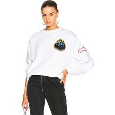 Acne Studios Fire Capsule Sweatshirt ($455) ❤ liked on Polyvore featuring tops, hoodies, sweatshirts, sweatshirts & hoodies, hoodie sweatshirts, white hooded sweatshirt, cotton hoodies, hoodies sweatshirts and cotton sweatshirts