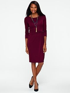 Talbots - City Jersey Ruched-Wrap Dress | New Arrivals | Misses