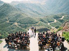 Photography : Erich Mcvey | Venue : Malibu Rocky Oaks And Vineyards | Event Planning : Sasha Souza Events Read More on SMP: http://www.stylemepretty.com/2015/09/23/intimate-mountaintop-malibu-wedding/