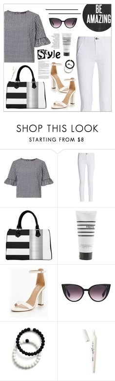 """Frill Sleeve Blouse"" by biange ❤ liked on Polyvore featuring Miss Selfridge, rag & bone, Pirette, Lokai and L.A. Girl"