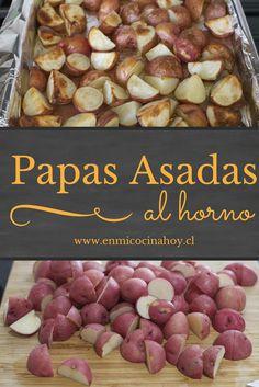Patate al forno - Recetas de invierno - Chilean Recipes, Chilean Food, Food N, Food And Drink, Kitchen Recipes, Cooking Recipes, Cooking Ideas, Vegetable Base Recipe, Healthy Fridge