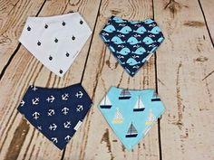 New Bandana Drool Bibs Set- Baby Teething unisex( 4 Pack)  | Organic Cotton  #MommysJoy #Bandanas