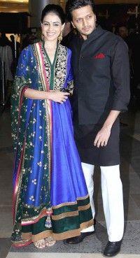 Classy Dep Blue & Emerald Green Salwar Kameez