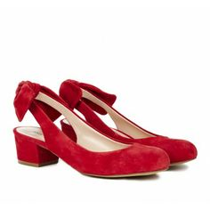 Sole Society - Bow slingbacks - Opal in radiant ruby