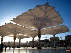 The Shades of Masjid An-Nabawi, Saudi Arabia