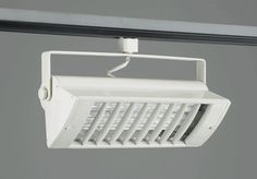 """TR-555 in WHITE FINISH- COMPACT FLUORESCENT TRACK FIXTURE    Louver-White    """"Please Click on the Picture under Schematic to see Detail Information on Track Light""""  Lamp: 2x 27W – Biax (2G11 Base)not included (total lumen output = 3600)  Regular price: $187.50  Sale price: $135.00"""