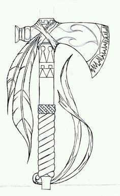 a tiny Tomahawk tat?
