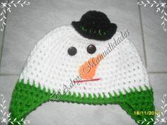 Gorro tejido de Muñeco de Nieve