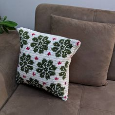 From MyCrochetory on Etsy: Original modern crochet patterns PDF Crochet Pillow Pattern, Crochet Cushions, Crochet Chart, Crochet Lace, Modern Crochet Patterns, Shawl Patterns, Fingering Yarn, Yarn Brands, Yarn Colors
