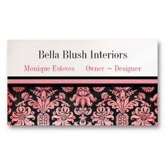 20 best interior decorating business cards images on pinterest blush damask interior design business cards colourmoves