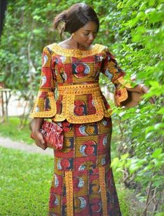 Classy picture collection of Beautiful Ankara Skirt And Blouse Styles These are the most beautiful ankara skirt and blouse trending at the moment. If you must rock anything ankara skirt and blouse styles and design. African Dresses For Women, African Print Dresses, African Attire, African Wear, African Women, African Prints, African Fashion Ankara, African Inspired Fashion, African Print Fashion