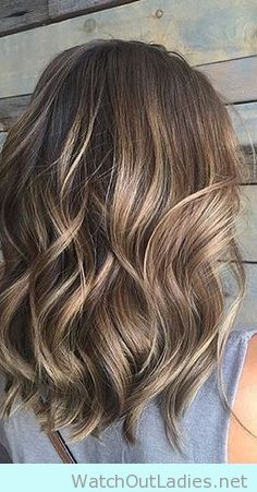 Gorgeous Brunette balayge hair with sunkissed highlights