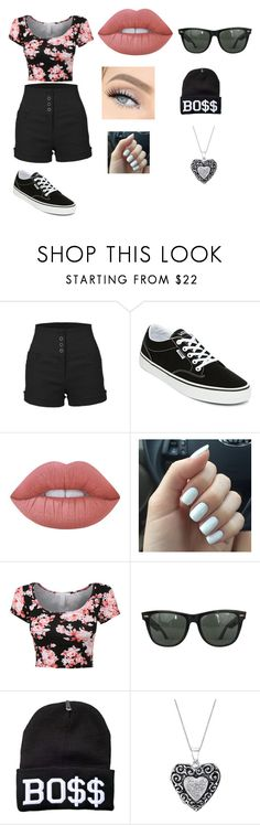 """""""On a walk"""" by royal727 on Polyvore featuring LE3NO, Vans, Lime Crime and Ray-Ban"""