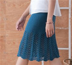Solstice Skirt - Media - Knitting Daily (I wish I knew how to knit - I would make a long version of this skirt)