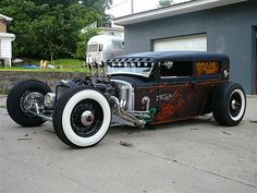 hot rods and girls   Rod by Mike Fink, hot rod, custom car Rat Rod by Mike Fink, hot rod ...