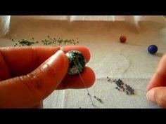Forrar bolas con delicas y rocallas - Parte 3 de 4 - YouTube