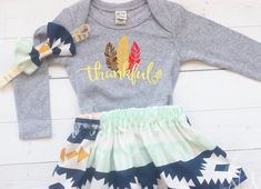 Girl Thanksgiving Outfit, Baby Thanksgiving Outfit Girl, Baby Girl Clothes, My First Thanksgiving, T Baby Girl Thanksgiving Outfit, Girls Fall Dresses, Fall Baby Clothes, Cute Leggings, Girls Wardrobe, Boy Outfits, Twirl Skirt, Grey Bodysuit, Aztec