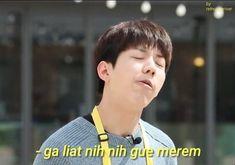 Memes Funny Faces, Funny Kpop Memes, Cute Memes, Day6 Dowoon, K Meme, Good Jokes, Derp, Man Humor, Cute Stickers