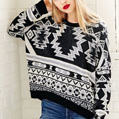Urban Outfitters Intarsia sweater Super soft! 100% acrylic. New without tags. BDG Sweaters Crew & Scoop Necks