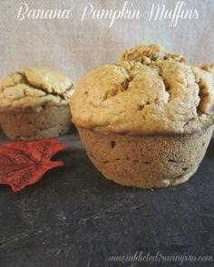 Banana Pumpkin Muffins Recipe #Bestrecipe #Fall #Recipes- Addicted 2 Savings 4 U