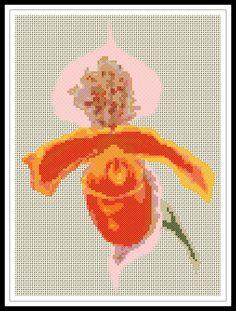 Gráfico para punto de cruz de una flor.