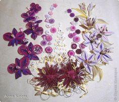 Картина панно рисунок Квиллинг Цветы Бумажные полосы фото 8