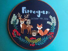 Custom Baby Name Embroidery Hoop Art for by HoffeltAndHooperCo