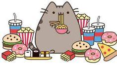 Pusheen amd her snacks! Gato Pusheen, Pusheen Love, Kawaii Drawings, Cute Drawings, Pusheen Stormy, Chat Kawaii, 4 Panel Life, Image Chat, Nyan Cat