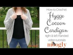 The Hygge Cocoon Cardigan Tutorial is here to guarantee you understand all the stitches and all the details of this free easy crochet sweater pattern! Crochet Cocoon, Crochet Coat, Easy Crochet, Crochet Sweaters, Crochet Cardigan Pattern, Crochet Shawl, Cocoon Cardigan, Drops Design, Ravelry