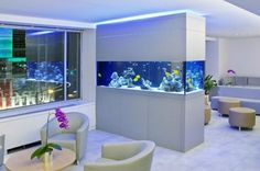 Have you ever thought about placing an aquarium in your kitchen? Actually, the feature of an aquarium in a kitchen will make it looks outstanding, suitable for you who want to make your kitchen as the center of attention in your house. Fish Tank Design, House Design, Home Staging Tips, House, Interior, Home Staging, Rooms Home Decor, Interior Design, Design Your Home