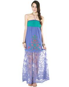 Lace Mix Maxi Dress