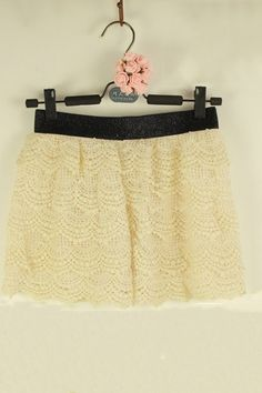 The shorts crafted in  cotton, featuring subtle five-layer lace stenciled embellishment, medium waistline, elastic waistband and inside lining of high quality.$26