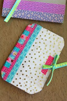 DIY notebook Made With Recycled Cereal Box & Washi Tape - Korb und Kiste Crafts To Make, Fun Crafts, Crafts For Kids, Paper Crafts, Creative Crafts, Cereal Box Craft For Kids, Crafts Cheap, Kids Diy, Creative Ideas