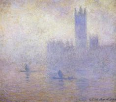 Houses of Parliament, Fog Effect - Claude Monet, 1900-1901...Saw it at The High