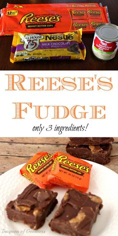 3 Ingredient Peanut Butter Cup No Bake Fudge Bars Recipe An easy no bake fudge bars recipe is one of my favorites. Add in Reese's peanut butter cups and you have a dream treat. - Teaspoon of Goodness Reeses Peanut Butter, Peanut Butter Recipes, Fudge Recipes, Candy Recipes, Dessert Recipes, Reese Fudge Recipe, Yummy Recipes, Nut Recipes, No Bake Desserts
