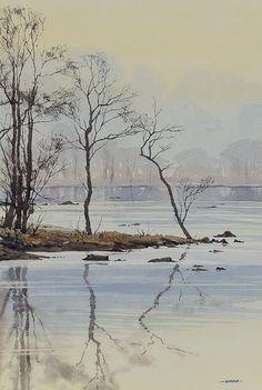 Oliver Pyle Fine Art, watercolour paintings, landscape paintings | Winter