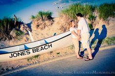 Jones Beach Engagement Session... Laura and David's #Wedding! (c)Treasured Memories.tv