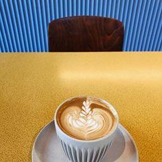 Paper Mill Coffee on tyylikäs kahvila ja paahtimo vanhassa paloasemarakennuksessa, joka palveli ennen selluloosa- ja paperitehdasta. Kahvila sijaitsee osoitteessa Masina 20. Latte, Tableware, Food, Dinnerware, Tablewares, Essen, Meals, Dishes, Place Settings