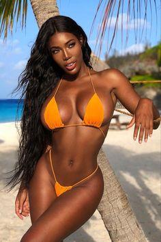Sexy Bikini, Bikini Girls, Most Beautiful Black Women, Mädchen In Bikinis, Ebony Beauty, Black Girl Fashion, Beach Girls, African Beauty, Bikini Bodies