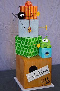 Cut The Rope Birthday Cake....AWESOME