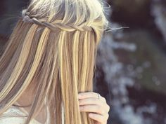Waterfall braid! We've been doing a few of these for prom! We love this look for the summer!