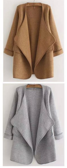 Really Love ! Sweater Coat have been a stable in closet of snappy dressers ! They are warm ,casual and smart enough ! Shein Women