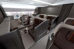 Singapore airlines first class interior design by BMW designworks