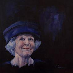 A beautiful portrait of Queen Beatrix from the Netherlands: 'Enjoying' by Caroline van de Vate