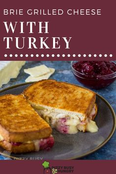 The best grilled cheese sandwich is a Thanksgiving flavored sandwich, made with turkey and cranberry.  Use brie cheese #dizzybusyandhungry #brie #grilledcheese #sandwich #cranberry #turkey Quick Lunch Recipes, School Lunch Recipes, Fruit Recipes, Breakfast Recipes, Snack Recipes, Cooking Recipes, Cheddar Cheese Recipes, Best Grilled Cheese, Homemade Cheese