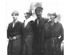 One of the last photographs of the Grand Duchesses together. Marie, Olga, Tatiana and Anastasia