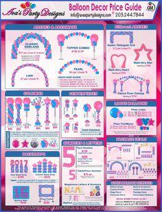 Balloon Decor Price Guide